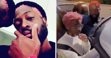 Dwyane Wade Dyed His Hair Pink To Match His Daughter Zaya And, Excuse Me, There's One thing In My Eye