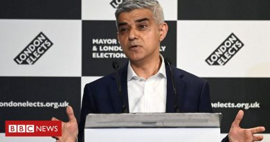 London elections: Sadiq Khan wins second time period as mayor