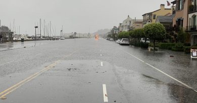 California's Bay Space doused by rain; energy outages and flooding reported